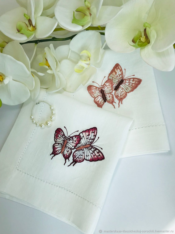 Вышивка ручной работы. Ярмарка Мастеров - ручная работа. Купить Машинная вышивка 'Бабочки'. Handmade. Вышивка, монограмма индивидуальная