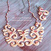 Украшения handmade. Livemaster - original item necklace and earrings made of glass