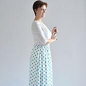 Одежда handmade. Livemaster - original item Skirt peas and white Retro staple in the floor. Handmade.