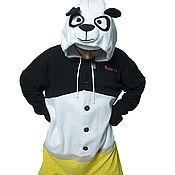 Cosplay costumes handmade. Livemaster - original item Costume kigurumi fleece Kung fu Panda. Handmade.
