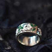 Украшения handmade. Livemaster - original item Silver ring with cold enamel
