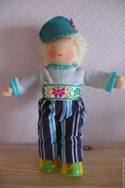 Вальдорфская игрушка ручной работы. Ярмарка Мастеров - ручная работа. Купить Шитая кукла Егорка. Handmade. Вальдорфская кукла