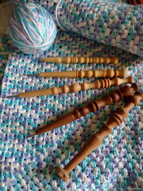 Крючки для вязания из дерева, Инструменты для вязания, Майкоп,  Фото №1