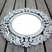 Для дома и интерьера ручной работы. Ярмарка Мастеров - ручная работа Зеркало серебро состаренное в деревянной раме. Handmade.