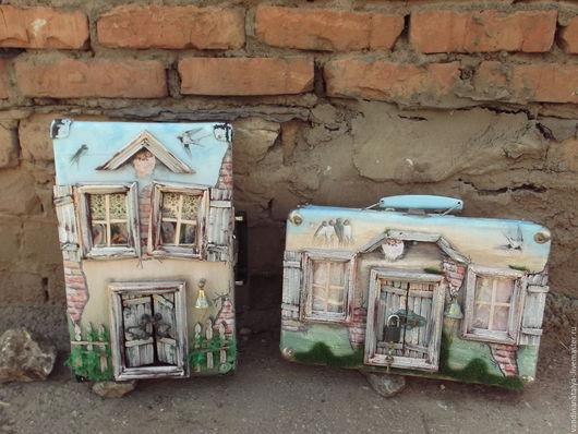 Кукольный дом ручной работы. Ярмарка Мастеров - ручная работа. Купить Чемоданы -домики (Чемо-домики). Handmade. Старый чемодан