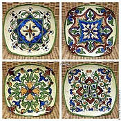 Посуда handmade. Livemaster - original item Painted porcelain. Plates on the wall