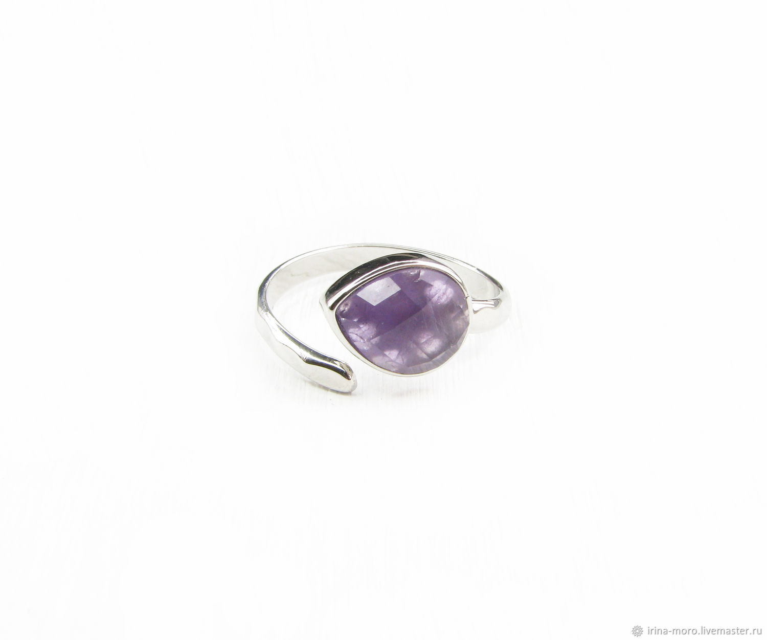 Silver ring with amethyst ring with amethyst,amethyst, Rings, Moscow,  Фото №1