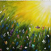 Картины и панно ручной работы. Ярмарка Мастеров - ручная работа Картина маслом  К солнцу. Handmade.