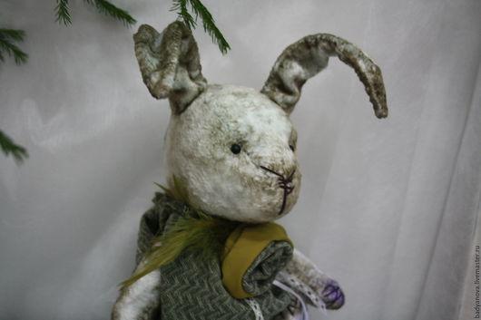 Мишки Тедди ручной работы. Ярмарка Мастеров - ручная работа. Купить Зая в зелёным (2). Handmade. Зеленый, мишки тедди
