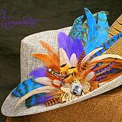 Украшения handmade. Livemaster - original item Purple and blue feather clip. Handmade.