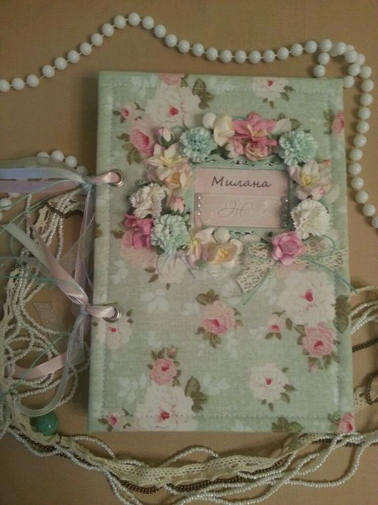 Блокноты ручной работы. Ярмарка Мастеров - ручная работа. Купить Блокнот для записей о первом годе жизни. Handmade. Скрапбумага
