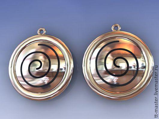 """Серьги ручной работы. Ярмарка Мастеров - ручная работа. Купить Серьги """"Спиральки"""". Handmade. Серый, подарок"""
