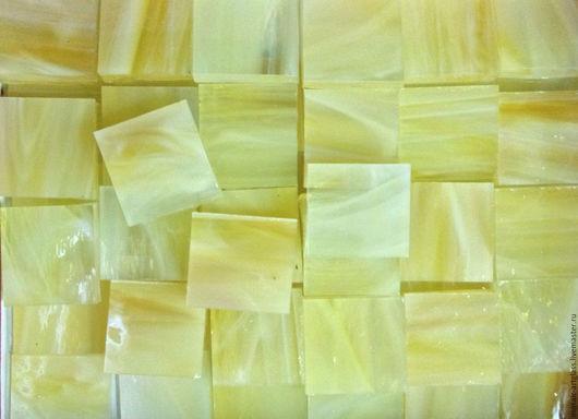 Мозаика для творчества. Янтарный, желтый, белый.