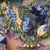 """Украшения ручной работы. Ярмарка Мастеров - ручная работа Колье """"Лиса в лесах"""". Handmade."""