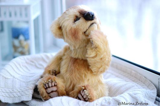 Мишки Тедди ручной работы. Ярмарка Мастеров - ручная работа. Купить Ларсен (30см). Handmade. Бежевый, медвежонок, металлический гранулят