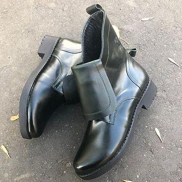 Обувь ручной работы. Ярмарка Мастеров - ручная работа Ботинки «Modern dark green». Handmade.