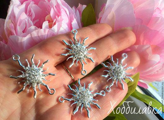 Коннекторы в форме звезды. Цвет серебро  размер 38*30 мм толщ. металла 2 мм