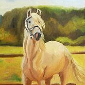 Картины ручной работы. Ярмарка Мастеров - ручная работа Лошадь на лугу. Handmade.