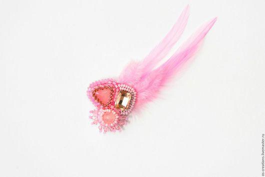 """Броши ручной работы. Ярмарка Мастеров - ручная работа. Купить Брошь """"Розовое желание"""". Handmade. Розовый, брошь ручной работы"""