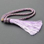 Украшения handmade. Livemaster - original item Brush on silk bead cord. Handmade.
