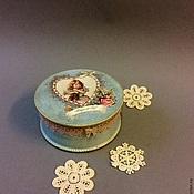 Подарки к праздникам ручной работы. Ярмарка Мастеров - ручная работа Девочка с кошкой.Шкатулка для украшений. Handmade.