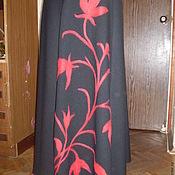 Одежда ручной работы. Ярмарка Мастеров - ручная работа Юбка   Красное и чёрное. Handmade.