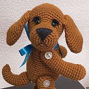 Собака вязаная Друг - вязаная игрушка собака. Удочерена.