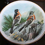 Винтаж handmade. Livemaster - original item Decorative porcelain plate