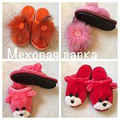 Обувь ручной работы. Ярмарка Мастеров - ручная работа Тапки из овечьих шкур для детей. Handmade.