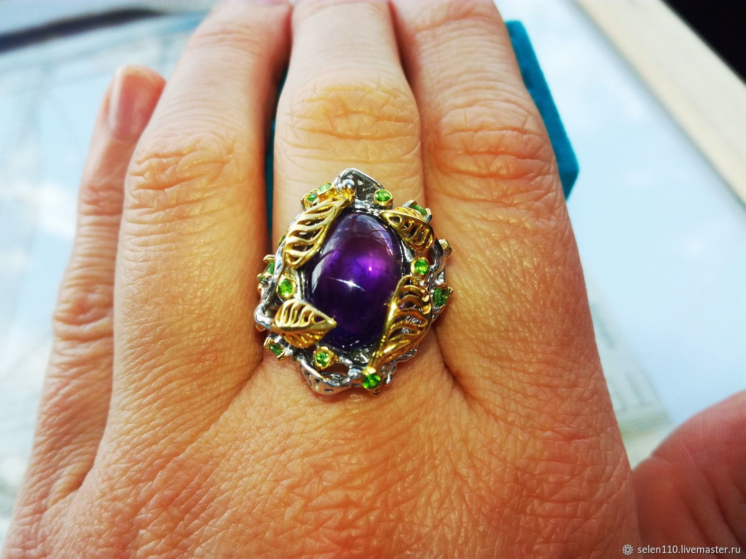 Ring 'Sweet dream' with amethyst, Rings, Voronezh,  Фото №1