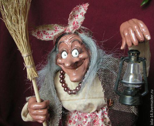 Сказочные персонажи ручной работы. Ярмарка Мастеров - ручная работа. Купить Ягуша с фонариком. Handmade. Комбинированный, самоотвердевающий пластик