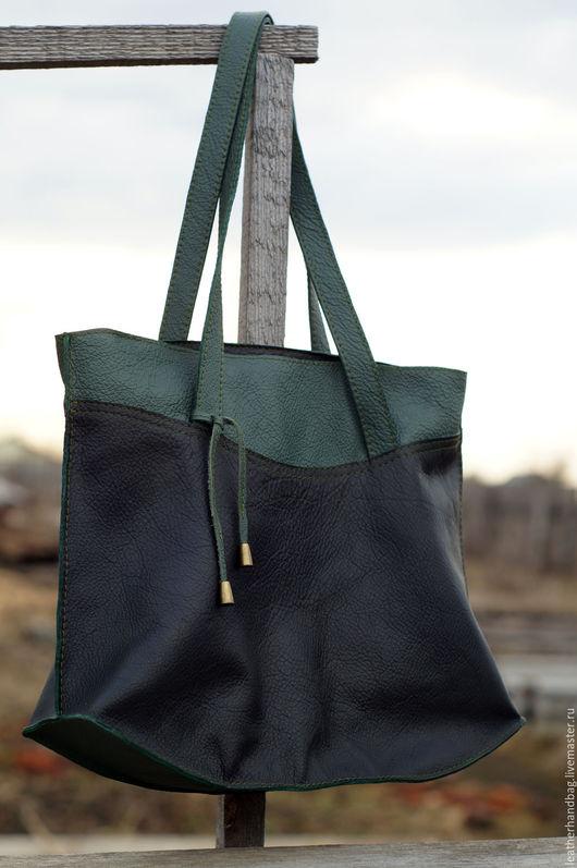 Женские сумки ручной работы. Ярмарка Мастеров - ручная работа. Купить Женская кожаная сумка. Handmade. Комбинированный