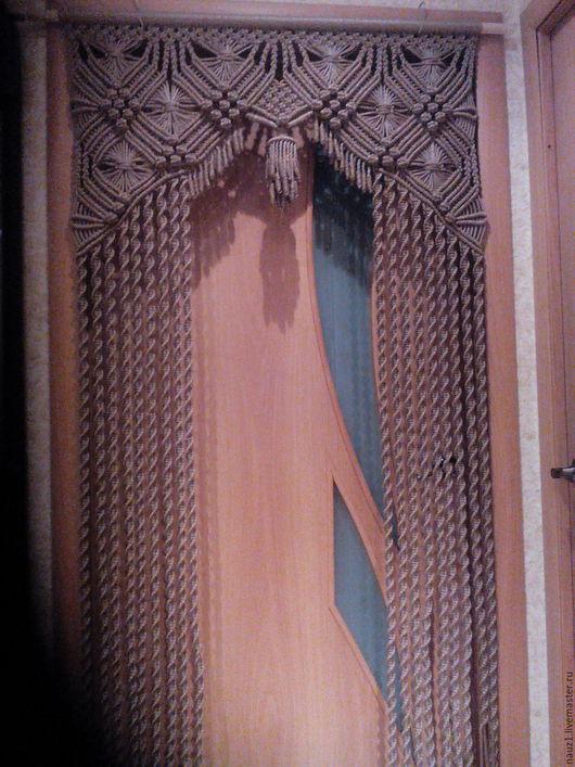 Прихожая ручной работы. Ярмарка Мастеров - ручная работа. Купить штора макраме арка. Handmade. Темно-серый, дизайн, капрон