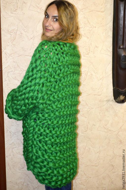 Вязание из очень толстой пряжи крючком