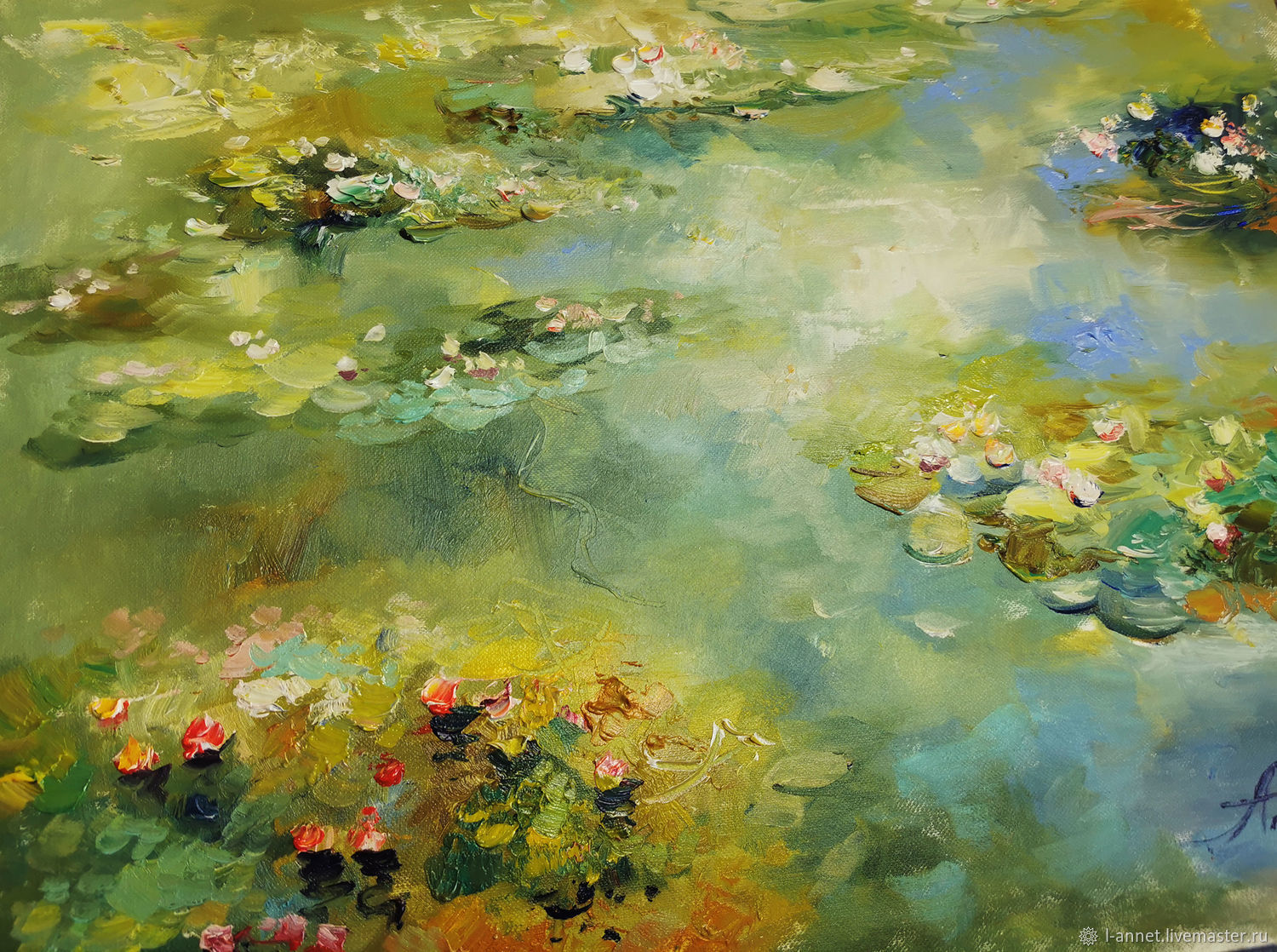 Water Lilies-oil painting, Pictures, Moscow,  Фото №1