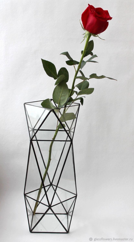 Stylish geometric vase Flower vase High vase