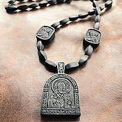 Нательная икона из дерева Святитель Николай Чудотворец