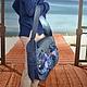 """Женские сумки ручной работы. Сумка-портфель """"Синяя сказка"""". Полунина Ольга. Ярмарка Мастеров. Сумка ручной работы"""