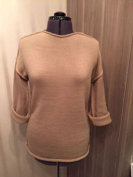 Кофты и свитера ручной работы. Ярмарка Мастеров - ручная работа. Купить Бежевый свитер. Handmade. Однотонный, бохо-стиль