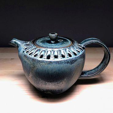 Посуда ручной работы. Ярмарка Мастеров - ручная работа Чайник синий. Handmade.
