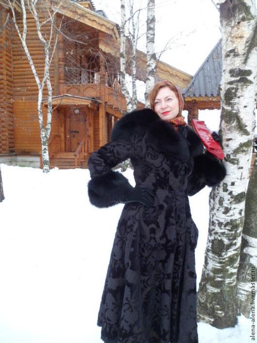 """Верхняя одежда ручной работы. Ярмарка Мастеров - ручная работа. Купить Зимнее пальто """"Бархатное танго"""".. Handmade. Черный"""