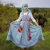 Русский стиль handmade. Livemaster - original item Girlish sundress