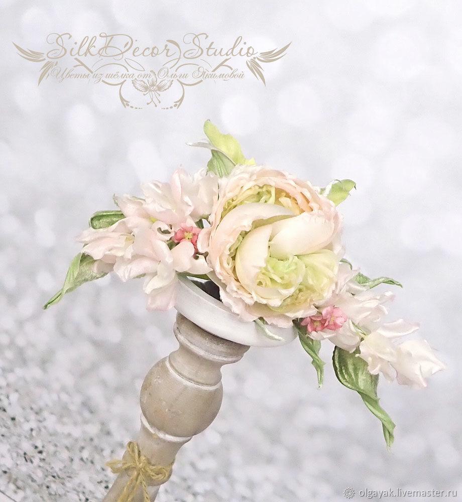 Цветы из ткани Свадебные украшения волос Диадема, Украшения, Обнинск, Фото №1