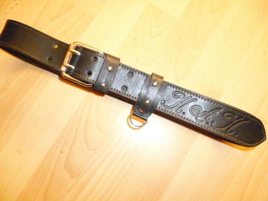"""Пояса, ремни ручной работы. Ярмарка Мастеров - ручная работа. Купить ремень кожаный  """"для друга"""". Handmade. Черный"""