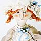 Кукла высотой 50см. Единственный экземпляр. Материалы: лён хлопок, шерсть, масло, пастель, акрил, цветы бумажные ручной работы, хлопковые кружева,  подставка деревянная.