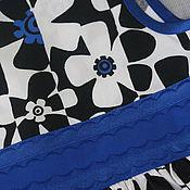 Работы для детей, ручной работы. Ярмарка Мастеров - ручная работа Платье для девочки Синий цветок нарядное. Handmade.