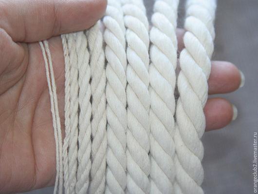 Другие виды рукоделия ручной работы. Ярмарка Мастеров - ручная работа. Купить Хлопковый канат 1 - 15 мм. Handmade.