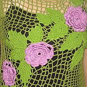 Одежда ручной работы. Ярмарка Мастеров - ручная работа топ - Розы. Handmade.