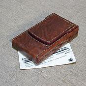 Сувениры и подарки handmade. Livemaster - original item Karung leather cigarette case for a pack of thin cigarettes. Handmade.