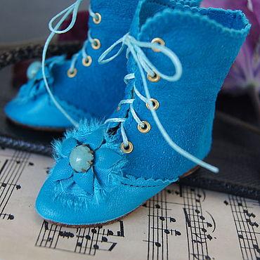 """Куклы и игрушки ручной работы. Ярмарка Мастеров - ручная работа Обувь для Антикварной и современной куклы """"Blue iris"""". Handmade."""